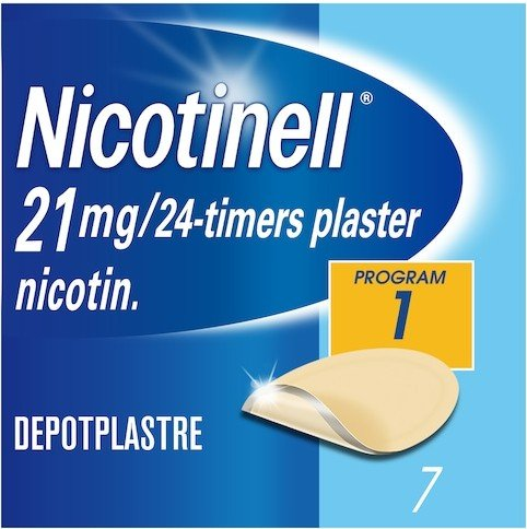 Nicotinell Depotplaster  21mg/ 24 timer 7 stk