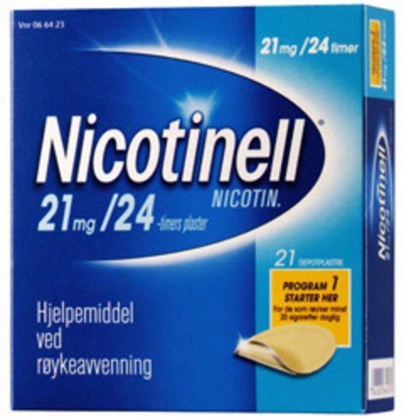 Nicotinell Depotplaster  21mg/ 24 timer 21 stk