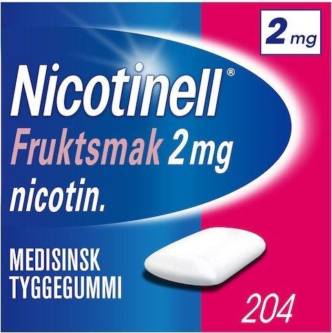 Nicotinell Fruktsmak 2mg tyggegummi 204 stk