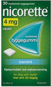 Tyggegummi 4mg Icemint 30 stk