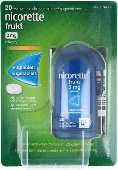 Nicorette Sugetabletter 2mg Frukt 20 stk