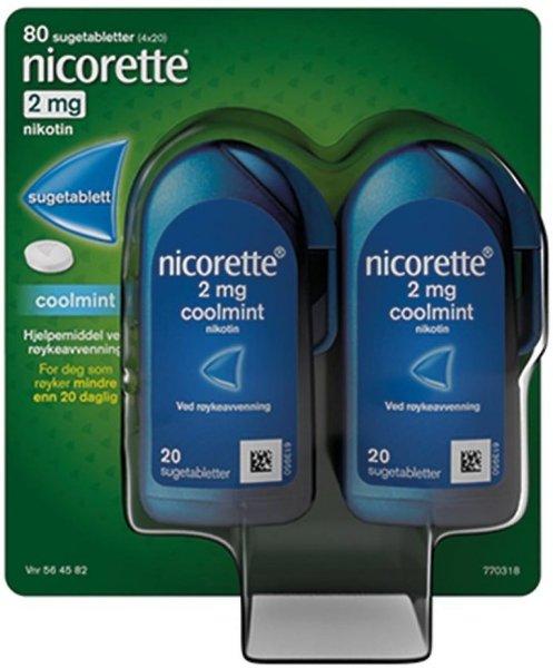 Nicorette Sugetabletter 2mg Coolmint 80 stk