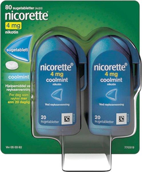 Nicorette Sugetabletter 4mg Coolmint 80 stk