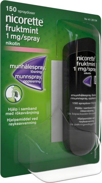 Nicorette Munnspray 1mg/dose Fruktmint 150 doser
