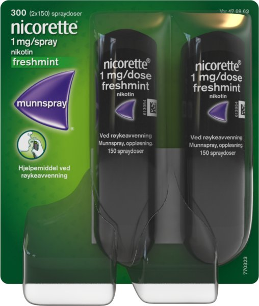 Nicorette Munnspray 1mg/dose Mint 2x150 doser