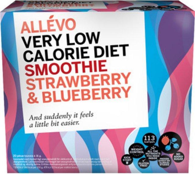 Allévo VLCD Smoothie Strawberry & Blueberry 20 poser