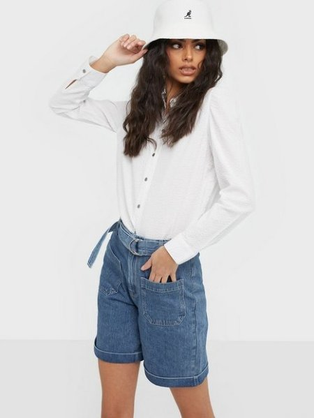Selected Femme Martha High Waist Denim Shorts