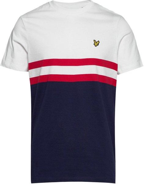Lyle & Scott Panel Stripe T-Shirt