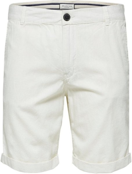 Selected Homme Straight Paris Linen Shorts