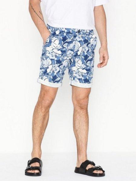 Selected Homme Straight Paris AOP Shorts