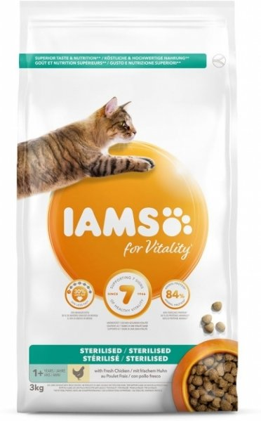 Iams Vitality Cat Adult Sterilised Chicken (3 kg)