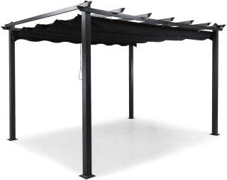 Pergola med sammenleggbart tak