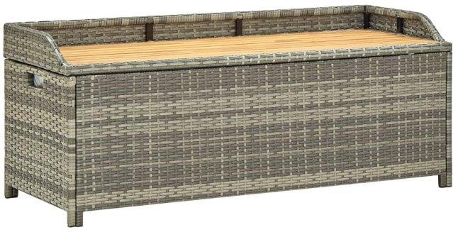 VidaXL Oppbevaringsbenk polyrotting 120cm