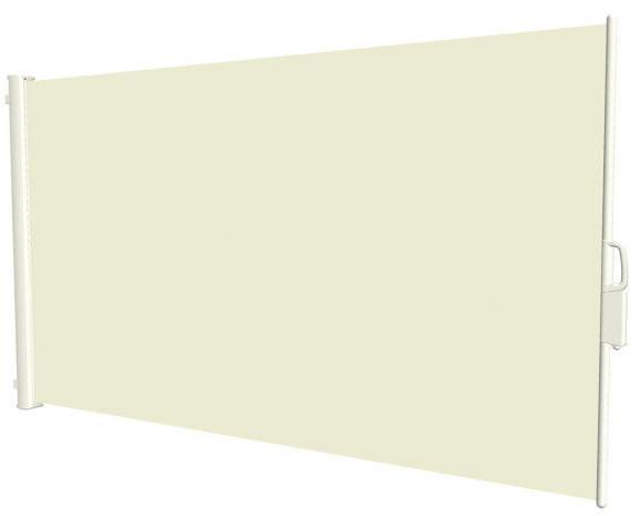 Uttrekkbar sidemarkise 160x300cm hvit ramme