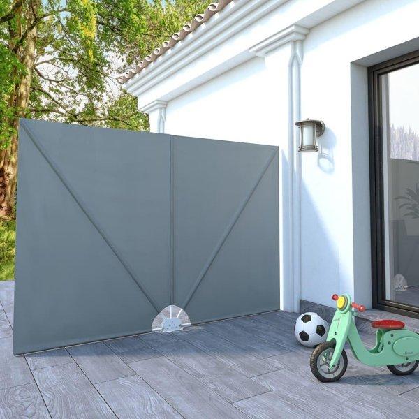 VidaXL Sammenleggbar sidemarkise for terrasse 240x160cm