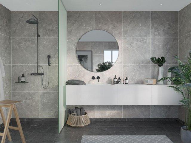 Fibo Marcato 2279-M6060 Silver Grey Marble