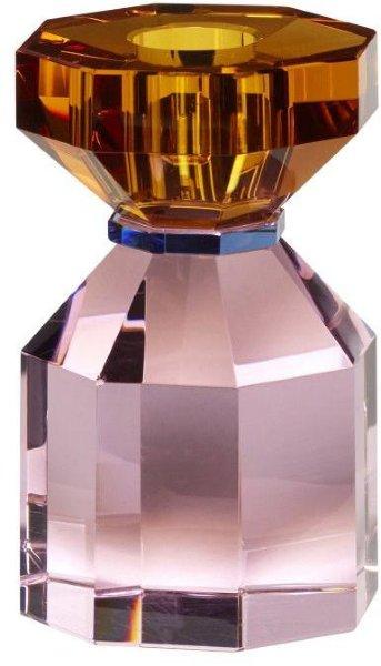 Hübsch Lysestake amber/rosa
