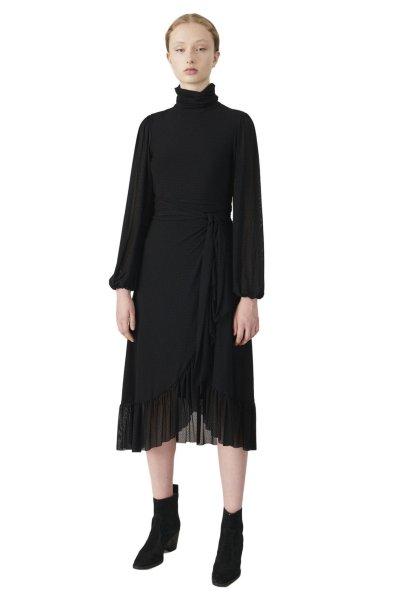 Ganni Dot Mesh Wrap Skirt