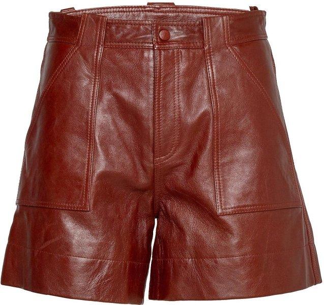 Ganni Lamb Leather Shorts