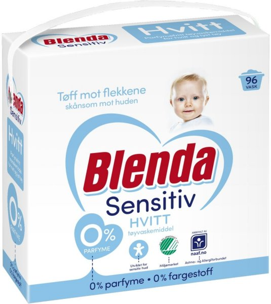 Lilleborg Blenda Sensitive Hvitt 4,3 kg