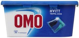 Lilleborg Omo Ultra Hvitt trippel dose 16 vaskekapsler