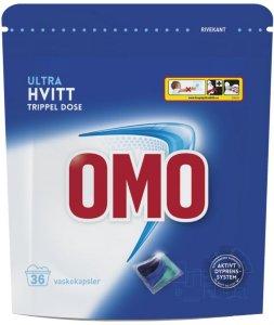 Lilleborg Omo Ultra Hvitt trippel dose 36 vaskekapsler