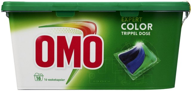 Lilleborg Omo Color trippel dose 16 vaskekapsler