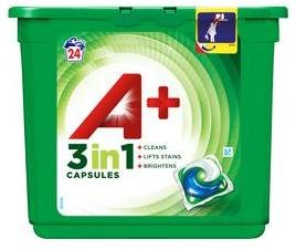 Ariel A+ White 3 in 1 Capsules 24 stk