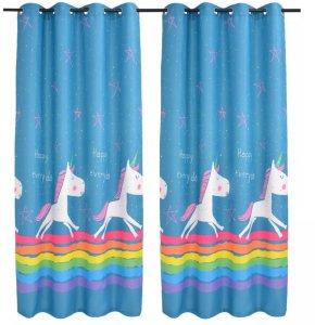 Lystette gardiner til barnerom 140x240cm 2 stk