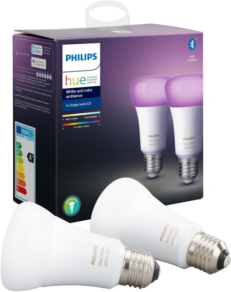 Philips Hue White and Color Ambiance E27 Richer Colors BT 806lm 2pk