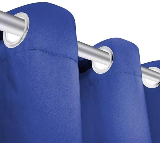 VidaXL Lystett gardin med metallringer 270x245cm