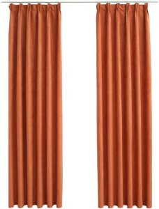Lystette gardiner med kroker 140x175cm 2 stk