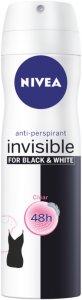Invisible Black & White Clear Deodorant Spray 150ml