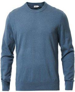 Cotton Merino Round Neck Sweater (Herre)