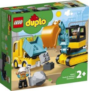 Duplo 10931 Town Truck & Tracked Excavator