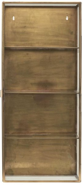 House Doctor Skap messing og glass 35x80cm