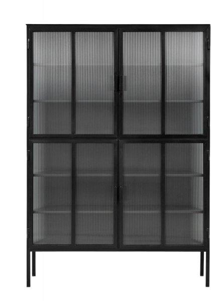 Nordal Skap med glassdører 185x130x35cm