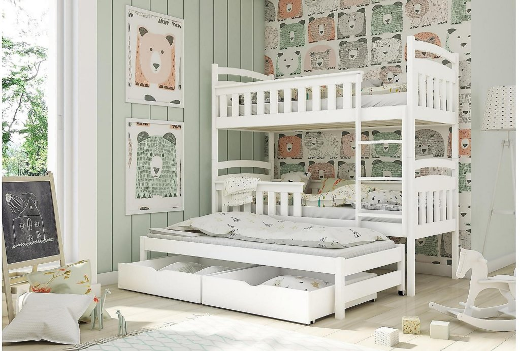 Bedly Burr Køyeseng 80x180 tre soveplasser