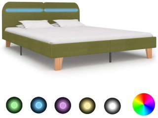 VidaXL Sengeramme med LED runde kanter 160x200cm