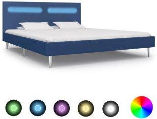 VidaXL Sengeramme med LED rette kanter 160x200cm