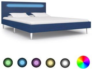 Sengeramme med LED rette kanter 140x200cm