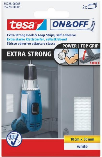 Tesa Extra Strong Strips 50mm x 100mm