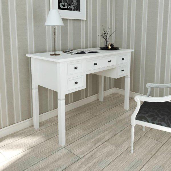 VidaXL Skrivebord med 5 skuffer