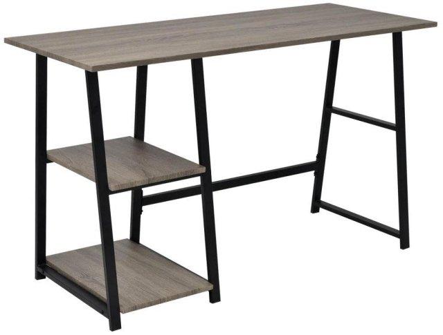 VidaXL Skrivebord med 2 hyller