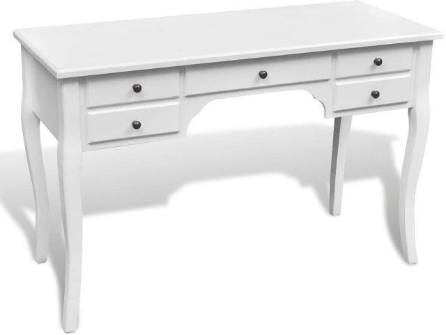 VidaXL Skrivebord fransk med buede ben treverk