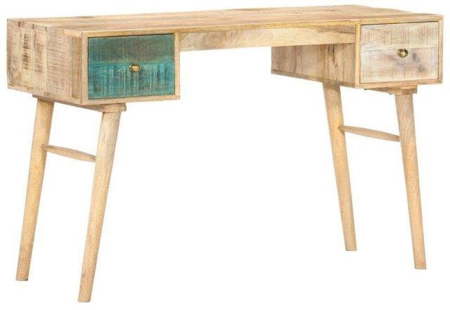 VidaXL Skrivebord heltre mango 118x50x75cm