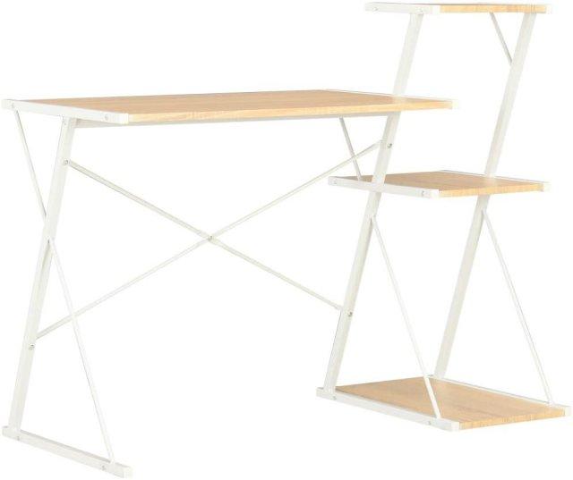 VidaXL Skrivebord med hylle 116x50x93cm