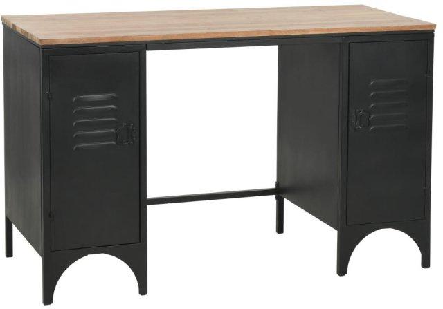 VidaXL Dobbelt skrivebord heltre edelgran og stål 120x50x76cm