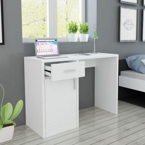 VidaXL Skrivebord med skuff og skap 100x40x73cm