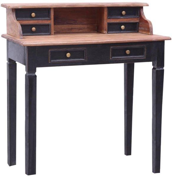 VidaXL Skrivebord med skuffer gjenvunnet heltre 90x50x101cm